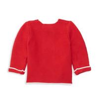 Elegant Baby Cardigan - Red Back