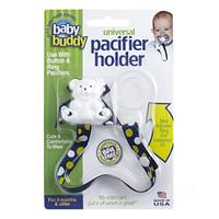 Baby Buddy Universal Pacifier Holder - Dots - Navy/Yellow