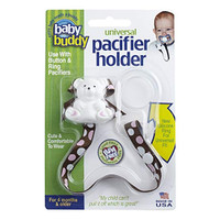 Baby Buddy Universal Pacifier Holder - Dots - Pink Chocolate
