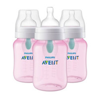Philips Avent Anti-Colic Bottle with AirFree Vent - Pink - 9 oz (3 Pack)_thumb1