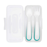 OXO On-the-Go Fork and Spoon Set wih Travel Case - Teal_thumb1