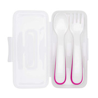 OXO On-the-Go Fork and Spoon Set wih Travel Case - Pink_thumb1