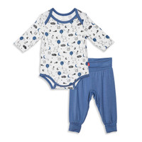 Magnificent Baby Magnetic Me Skylark Bodysuit & Harem Pant Set - Blue_thumb1