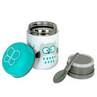 BBLuv Food Thermal Food Container with Spoon 10oz - Aqua_thumb1