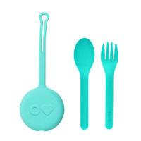 OmieBox Kids Utensils Set - Mint Green_thumb1