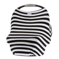 Itzy Ritzy Mom Boss 4-in-1 Nursing Cover - Black/White Stripe_thumb1