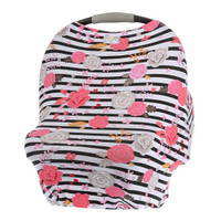 Itzy Ritzy Mom Boss 4-in-1 Nursing Cover - Floral Stripe_thumb1