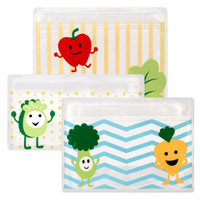 Dr Brown????????s Reusable Snack Bags Tummy Grumble - 3 Pack_thumb1