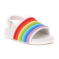Mini Melissa Beach Rainbow Slide Sandal - White_thumb1