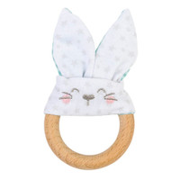 Saro Nature Bunny Teether - Mint Green_thumb1