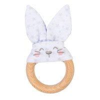 Saro Nature Bunny Teether - Blue_thumb1