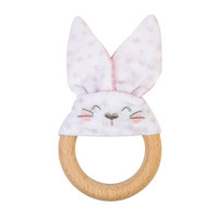 Saro Nature Bunny Teether - Pink_thumb1