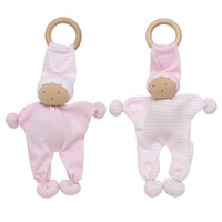 Under the Nile Baby Buddy Teething Toy 2 Pack - Pink Stripe_thumb1