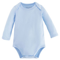 Under the Nile L/S Lap Shoulder Babybody - Blue_thumb1
