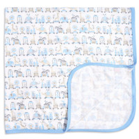 Magnificent Baby Blue Taj Express Modal Swaddle Blanket_thumb1