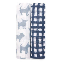 "Aden + Anais 47"" Silky Soft Swaddle - (2 Pack)- Waverly_thumb1"
