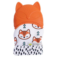 Itzy Ritzy Silicone Teething Mitt  in Fox