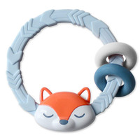 Itzy Ritzy Silicone Teether with Rattle in Fox