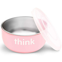 ThinkBaby High Rise BPA Free Baby Bowl - Pink Main
