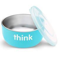ThinkBaby High Rise BPA Free Baby Bowl - Light Blue Main