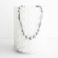 Teether Addison Teether Necklace - Powder Marble Grey Main