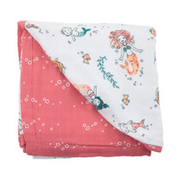 Bebe Au Lait Snuggle Blanket - Mermaid + Bubble Main