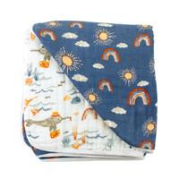 Bebe Au Lait Narwhal + Hello Blankets
