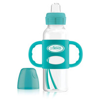 Dr. Brown Options+ Sippy Spout 8oz Bottle with Silicone Handle - Turquoise