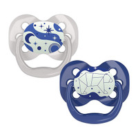 Dr. Brown Advantage Glow-in-The-Dark Stage 1 Pacifiers - 2 Pack Blue