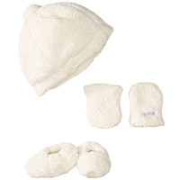 JJ Cole Bomber Hat Set Ivory