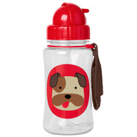 Skip Hop Winter Zoo Straw Bottle Bulldog