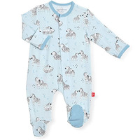 Magnificent Baby Magnetic Me Little One Blue Footie