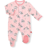 Magnificent Baby Magnetic Me Little One Pink Footie