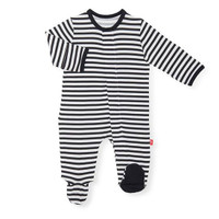 Magnificent Baby Magnetic Me Raise The Woof Stripe Footie