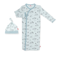 Magnificent Baby Magnetic Me Koala Cuddles Blue Sack Gown and Hat Set