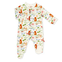Magnificent Baby Magnetic Bear-b-que Footie