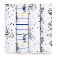 """Aden + Anais 44"""" Essentials Muslin Swaddle Set 4-pack - Mickey Mouse Stargazer"""
