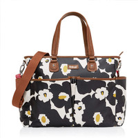 Babymel Bella Diaper Bag - Black Floral