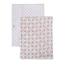 Bebe Au Lait Premium Muslin Swaddle Blanket Set - Dewberry + Lattice
