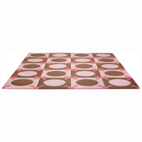 Skip Hop Playspot - Interlocking Foam Tiles - Pink/Brown
