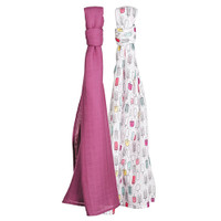 Bebe Au Lait Oh-So-Soft Luxury Muslin Swaddle Blankets - Popsicles + Cherry