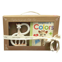Calisson Inc So'Pure Teether & Sophie's Colors Book Set