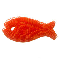 Innobaby Bathin' Smart Fish Bath Scrub - Orange/Mango