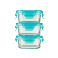 Innobaby Preppin' SMART EZ Lock Glass Container - 3 Pack