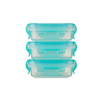 Innobaby Preppin' SMART EZ Lock Square Container 4 oz - 3 Pack