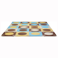 Skip Hop Playspot - Interlocking Foam Tiles - Blue/Gold