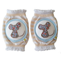 Crawlings Baby Knee Pad - Sweet Tea Mouse