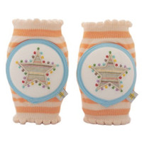 Crawlings Baby Knee Pad - Tangerine Star