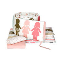 DwellStudio Paper Dolls Petal Crib Set