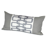 "Oilo 12""x24"" Link Pillow - Stone"